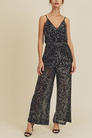 In Loom Black Sequin Jumpsuit - Front cropped