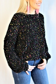 In Loom Confetti Pom Sweater - Front full body
