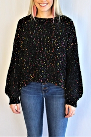 In Loom Confetti Pom Sweater - Front cropped