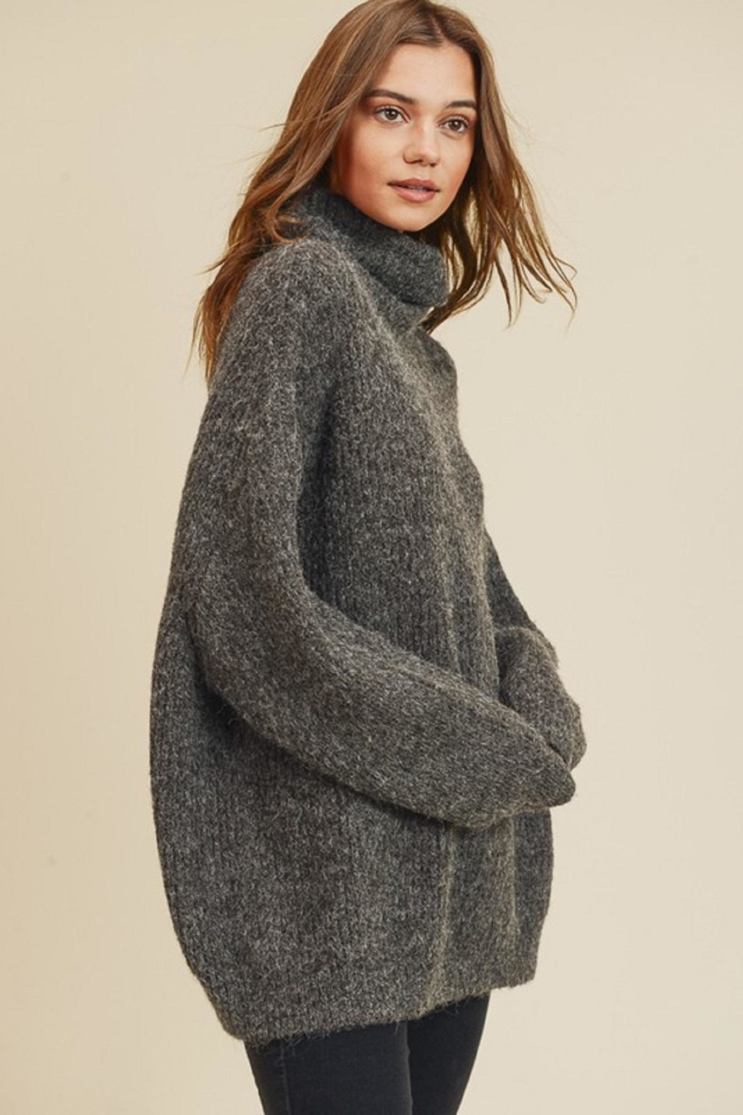 In Loom Cozy Turtleneck Sweater - Front Cropped Image