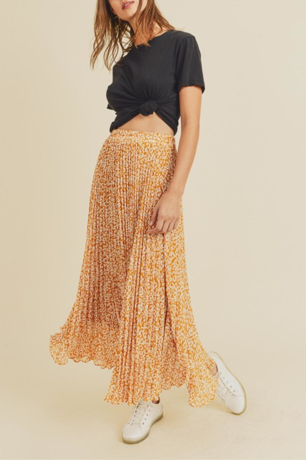 In Loom Dancing Leopard Skirt - Front Full Image