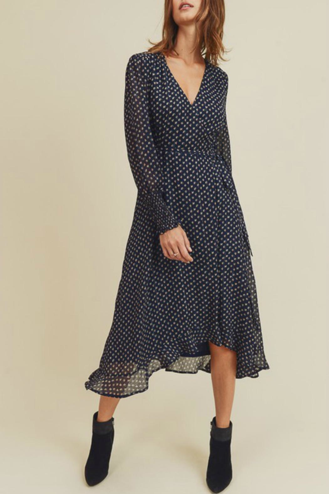 In Loom Floral Wrap Dress - Main Image
