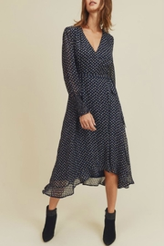 In Loom Floral Wrap Dress - Front cropped