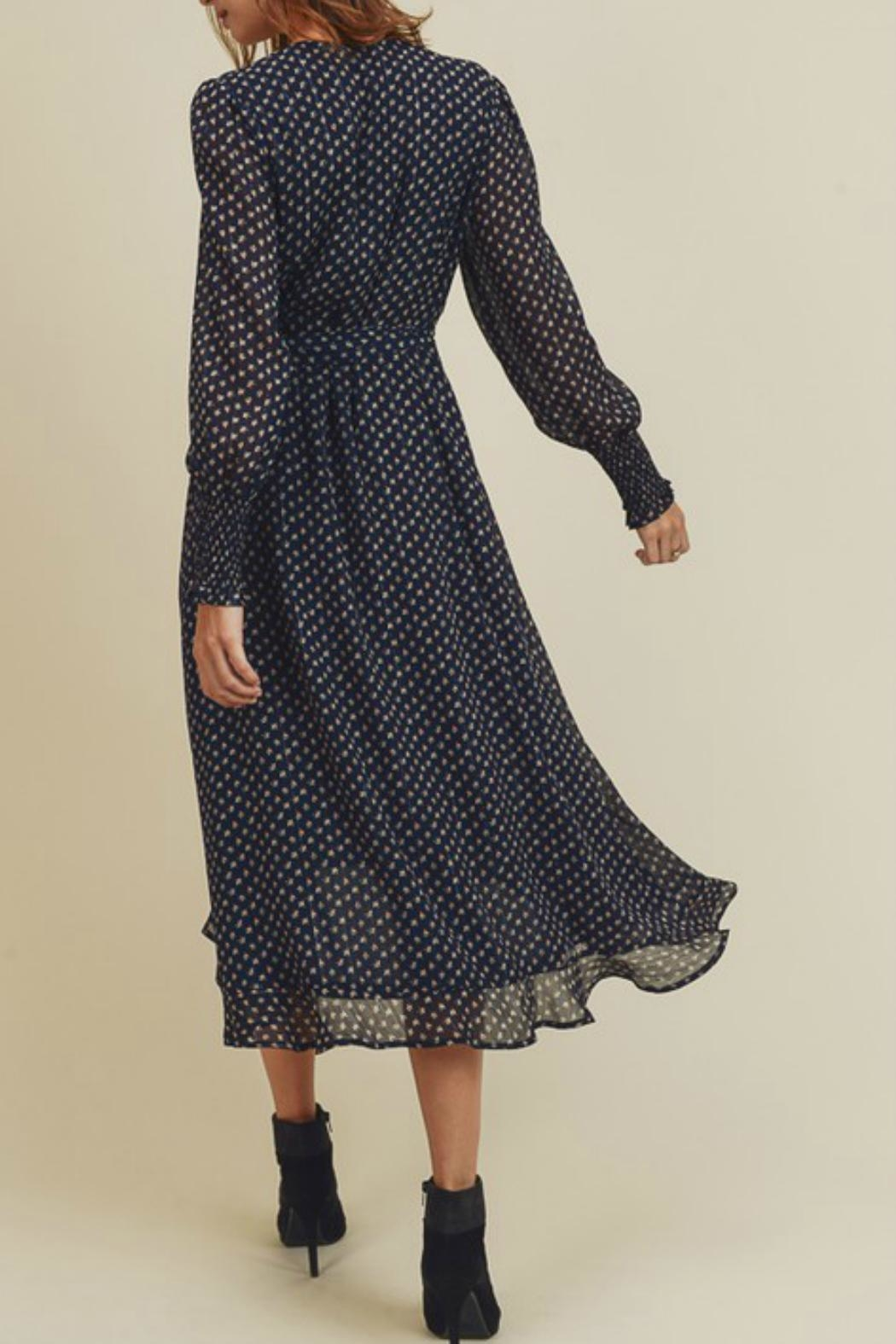 In Loom Floral Wrap Dress - Front Full Image