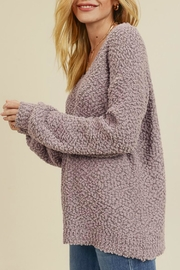 In Loom Popcorn Pullover - Side cropped