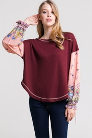 In Loom Waffle Floral Sleeve - Product Mini Image