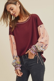 In Loom Waffle Knit Top - Front full body