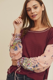 In Loom Waffle Knit Top - Front cropped