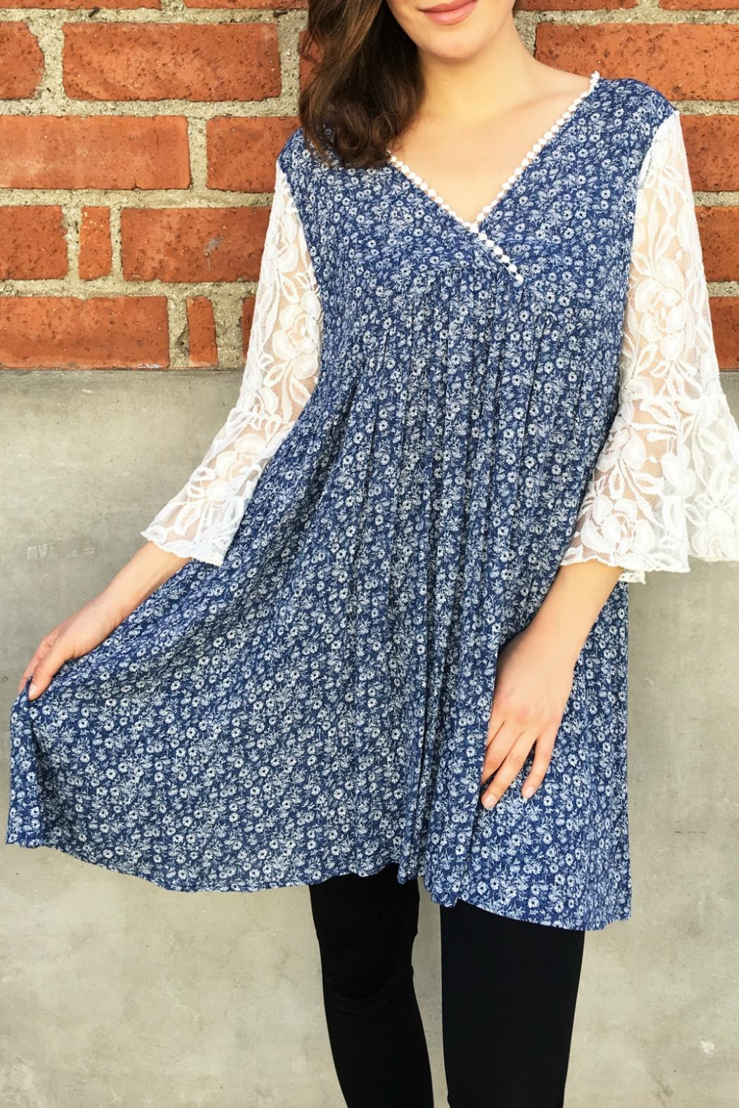 In Style Lace Denim Tunic - Main Image