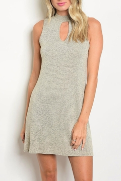 Shoptiques Product: Taupe Mock Neck Dress