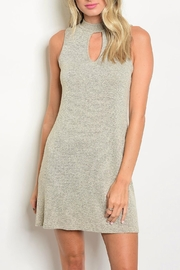 In Style Taupe Mock Neck Dress - Front cropped