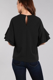 In Style Tiered Ruffle Sleeve Top - Back cropped