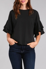 In Style Tiered Ruffle Sleeve Top - Front cropped