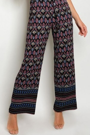 in the Beginning Black Paisley Jumpsuit - Back cropped