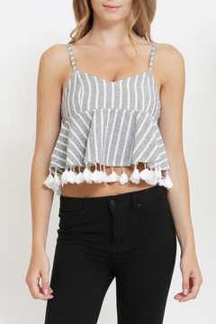 Shoptiques Product: Striped Tassel Top