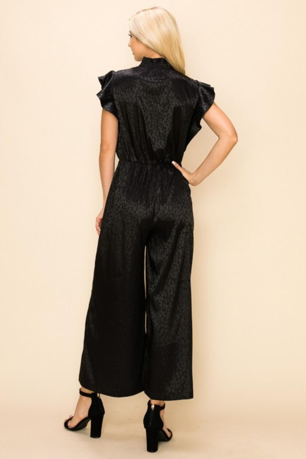 Ina Animal Print Jumpsuit - Front Full Image