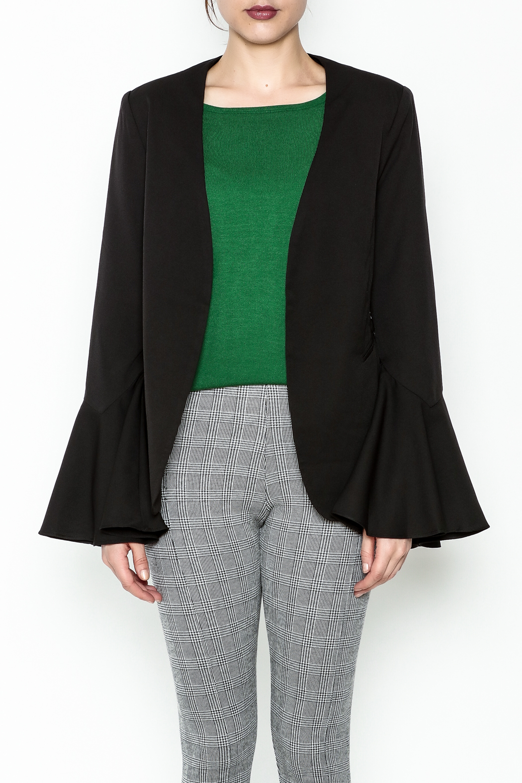 Ina Bell Sleeve Blazer - Front Full Image