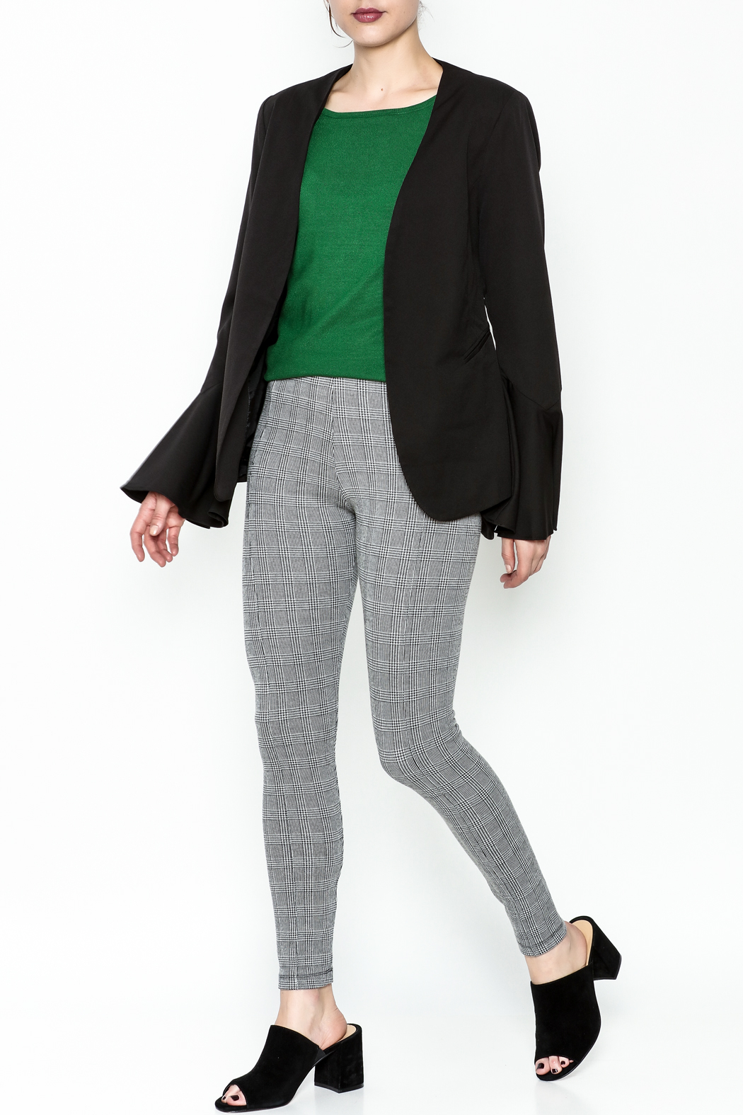 Ina Bell Sleeve Blazer - Side Cropped Image
