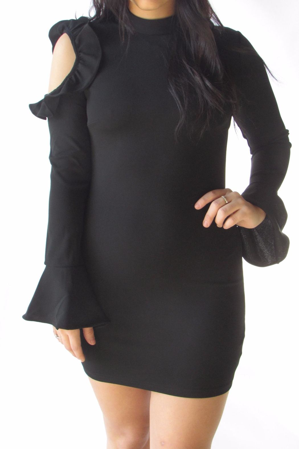 Ina Bell Sleeve Dress - Side Cropped Image