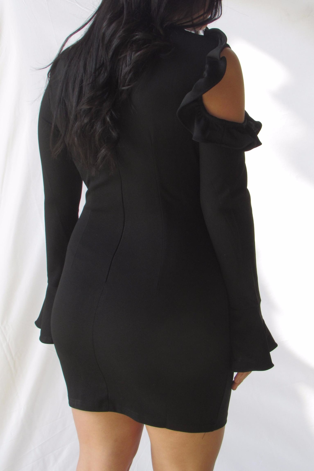 Ina Bell Sleeve Dress - Front Full Image