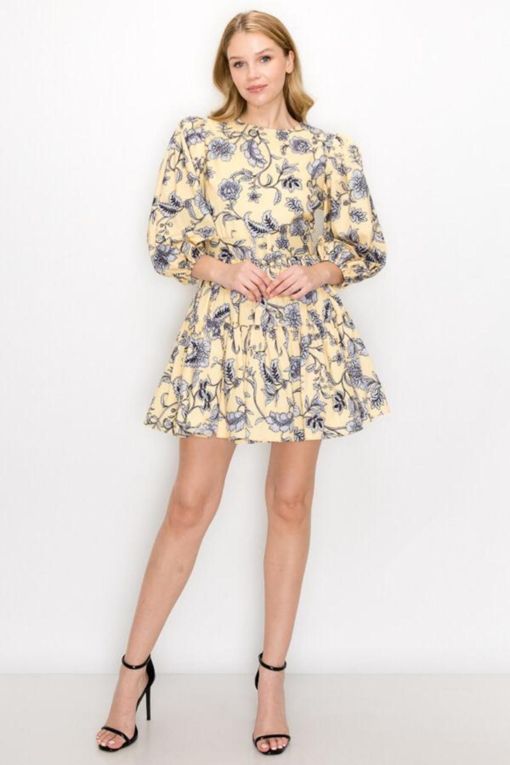 Ina Belted Floral Dress - Main Image