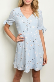 Ina Blue Floral Dress - Front cropped