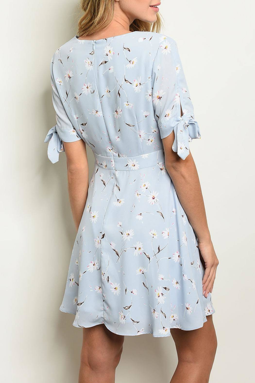 Ina Blue Floral Dress - Front Full Image