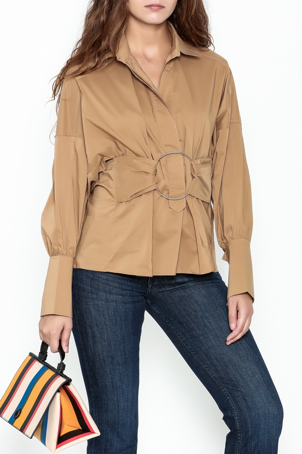 Ina Belted Ring Blouse - Main Image