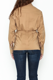 Ina Belted Ring Blouse - Back cropped