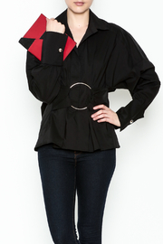 Ina Belted Ring Blouse - Front cropped