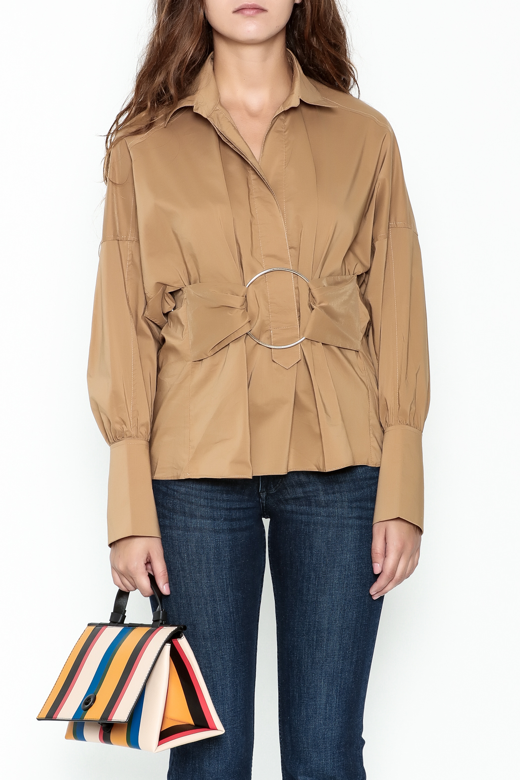 Ina Belted Ring Blouse - Front Full Image