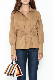 Ina Belted Ring Blouse - Front full body