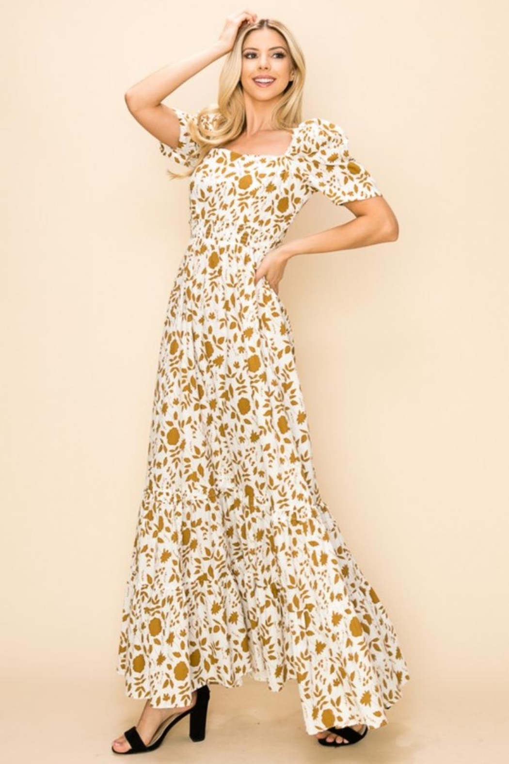 Ina Cotton Floral Dress - Front Full Image