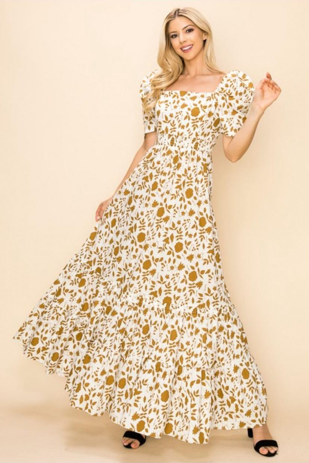 Ina Cotton Floral Dress - Main Image