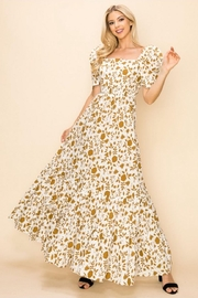 Ina Cotton Floral Dress - Front cropped