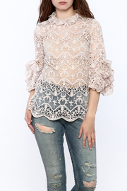Ina Blush Crochet Lace Top - Product Mini Image