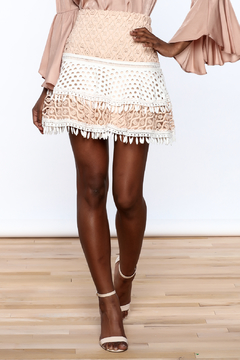 Ina Two-Tone Crochet Skirt - Product List Image