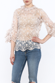 Ina Blush Lace Top - Front cropped