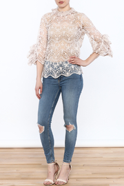 Ina Blush Lace Top - Side cropped