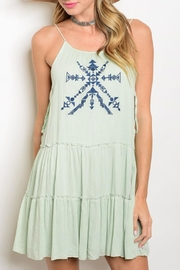 Ina Delilah Embroidered Dress - Product Mini Image