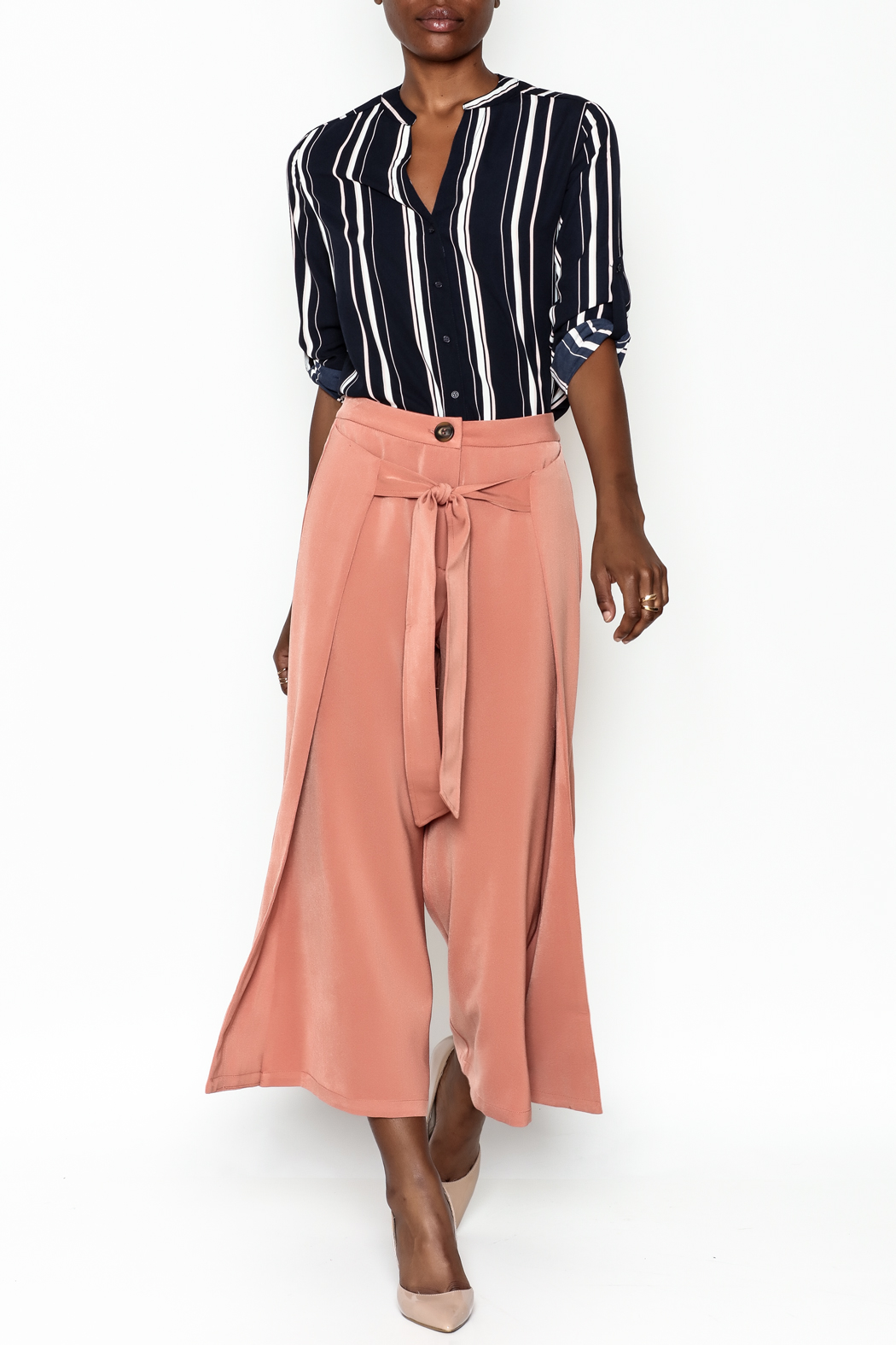 Ina Fakeout Wrap Pants - Side Cropped Image