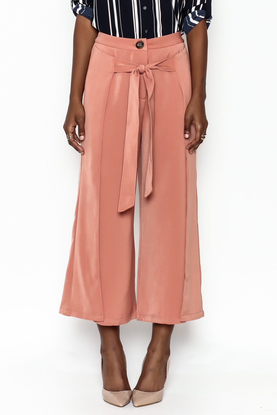 Ina Fakeout Wrap Pants - Front Full Image