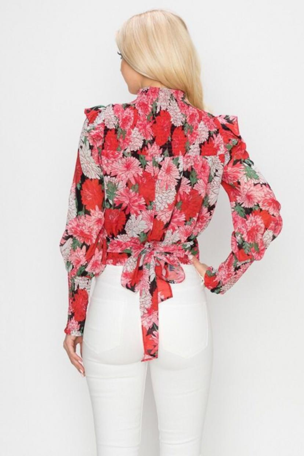 Ina Floral Top - Front Full Image