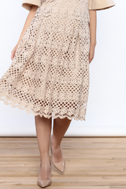 Ina Beige Lace Midi Skirt - Product Mini Image