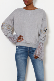 Ina Jewel Sleeve Sweater - Product Mini Image