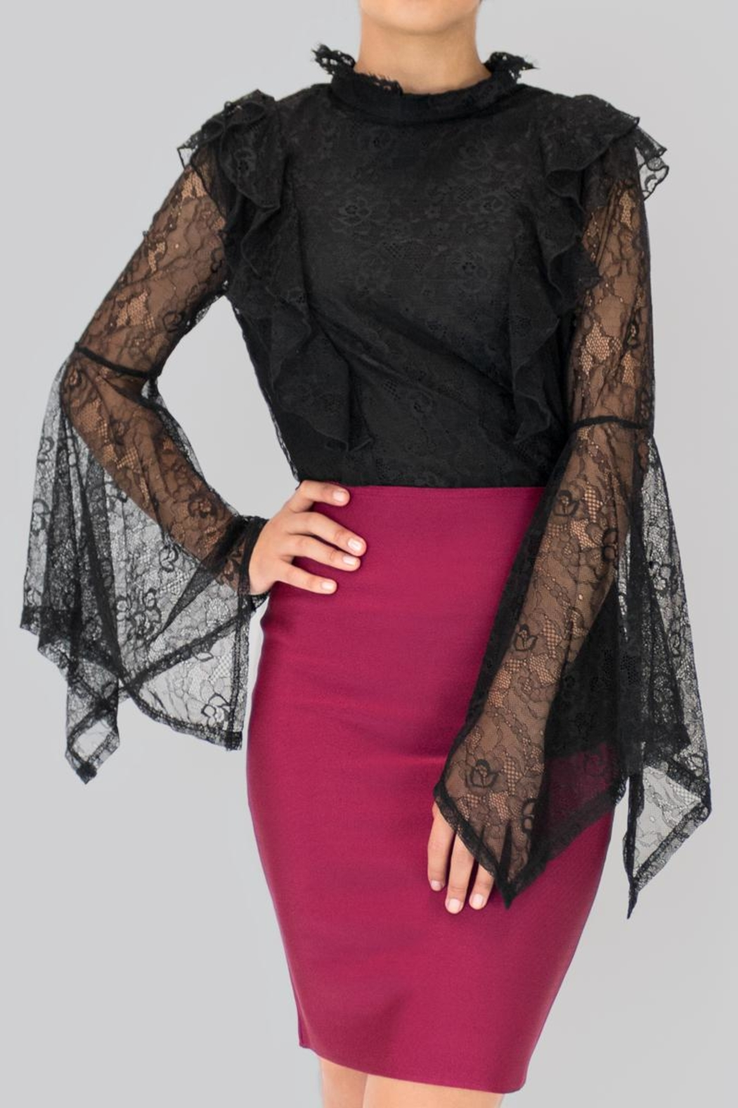 Ina Lace Blouse - Front Full Image
