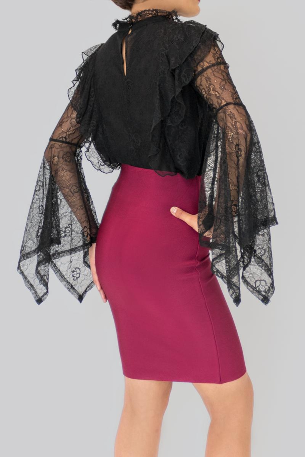 Ina Lace Blouse - Side Cropped Image