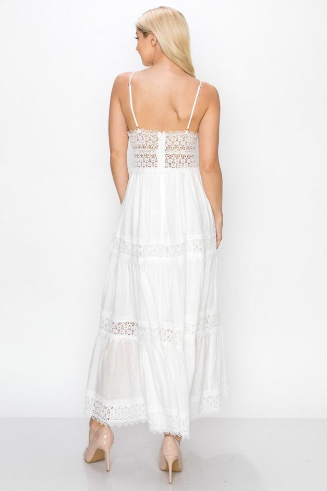 Ina Lace Trim Dress - Front Full Image