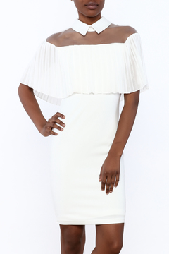 Shoptiques Product: Collared Mesh Top Dress