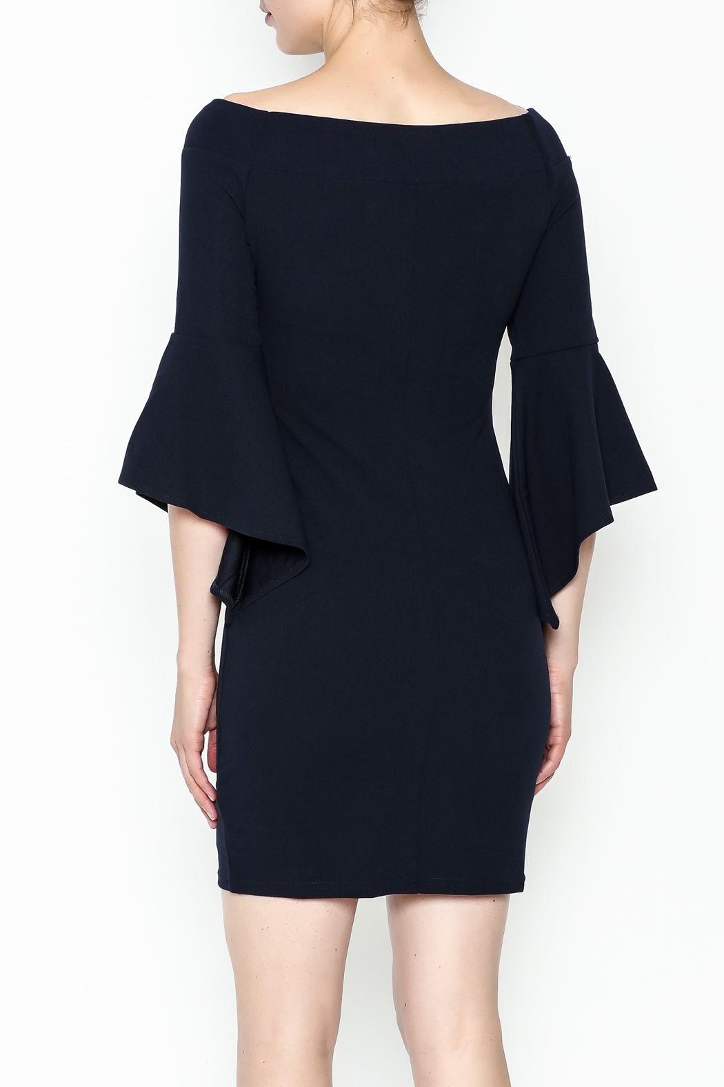 Ina Off Shoulder Statement Dress - Back Cropped Image